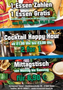 Restaurant Tacos Aktion -Happy Hour